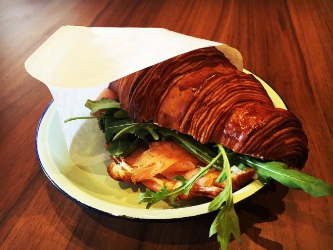Percolate Cafe Salmon Sandwich