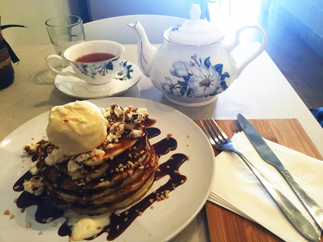 Hyde and Co Tea and Pancakes