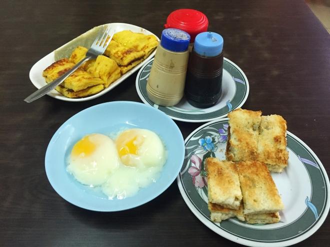 Tong Ah Keong Saik Two Toasts and Eggs