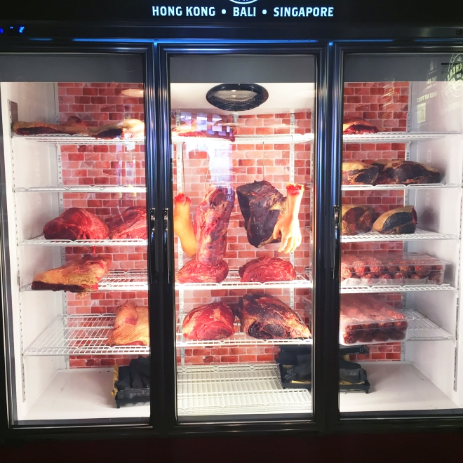 The Butchers Club Clarke Quay Ageing Fridge
