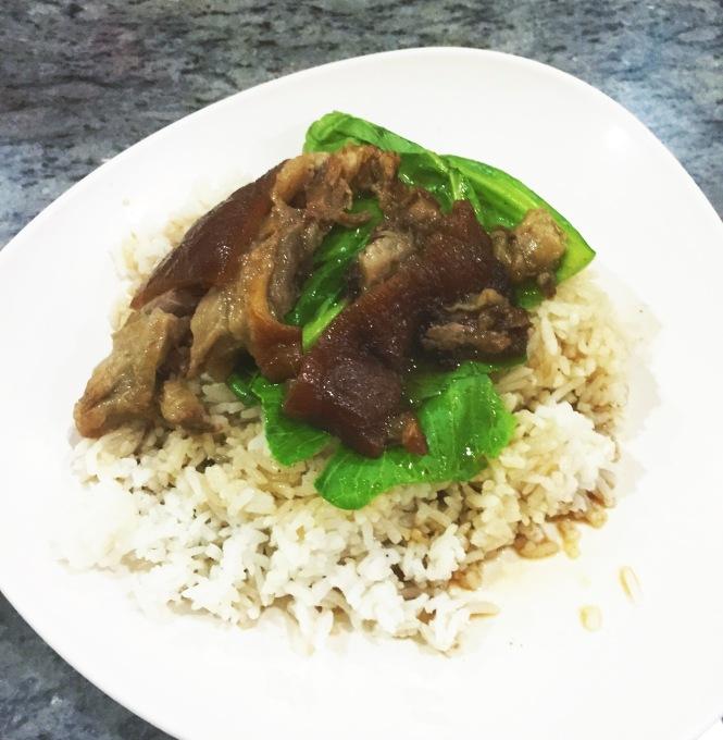 Thai Noodle House Coronation Rd Pork trotter rice